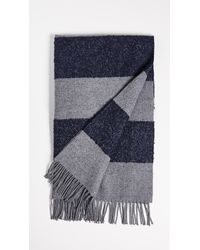 Begg & Co - Boucle Furrow Striped Blanket Scarf - Lyst