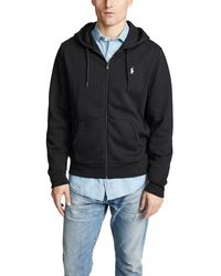 Polo Ralph Lauren Double Knit Full Zip Hoodie - Black