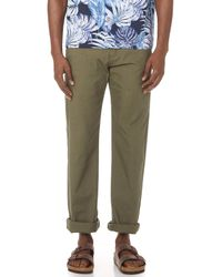 Naked & Famous - Rinsed Oxford Chino Trousers - Lyst