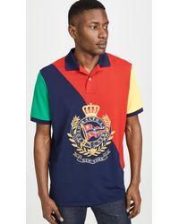 Polo Ralph Lauren Newport Crest Polo Shirt - Red