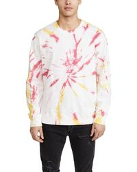 RVCA Long Sleeve Switch Tie Dye Crew Neck Sweatshirt - Multicolour