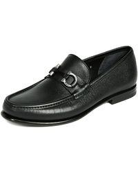 Ferragamo - Crown Bit Loafers - Lyst