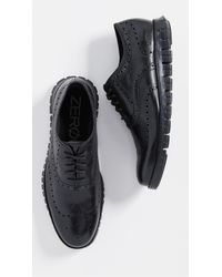 Cole Haan Zerogrand Wingtip Oxford Shoes - Black