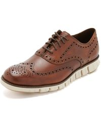 Cole Haan Zerogrand Wingtip Oxford Shoes - Brown