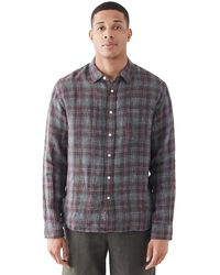Corridor NYC Open Weave Red Plaid Shirt