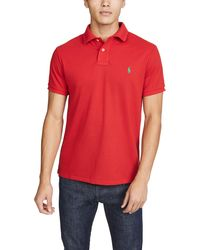 Polo Ralph Lauren Sustainable Mesh Earth Polo - Red