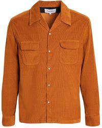 Corridor NYC Pincord Snap Button Workshirt - Orange