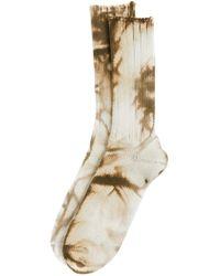 Anonymous Ism - Uneven Dye Crew Socks - Lyst