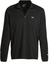 Arc'teryx Cormac Lightweight Zip Neck - Black