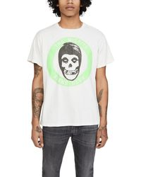 MadeWorn The Misfits Fiend Club Neon Muscle Tee - White