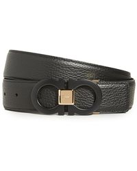 Ferragamo Double Gancini Belt - Black