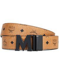 MCM - Visetos Printed Reversible Belt - Lyst