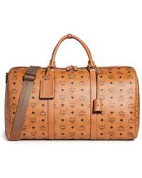 MCM Traveller Visetos Weekender Bag - Brown