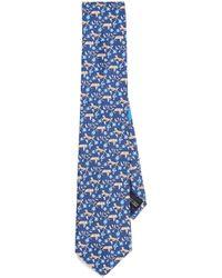 Ferragamo - Cheetah & Flower Tie - Lyst