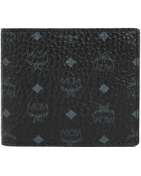 MCM Bifold Wallet In Visetos Original - Black