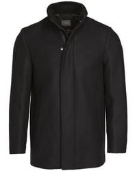 Theory Clarence Stand Collar Coat - Black
