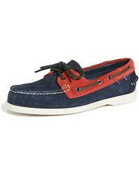 Sebago X Baracuta Dock Side Loafers - Blue