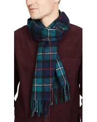Barbour New Check Scarf - Blue