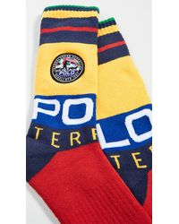Polo Ralph Lauren Limited Edition: Terrain Patch Crew Socks - Red