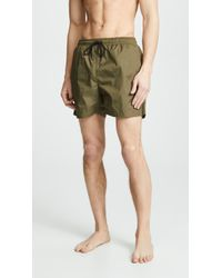 Solid & Striped The Classic Swim Trunks - Green