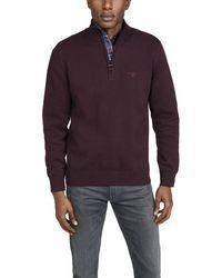 Barbour Cotton Half Zip Hoodie - Purple