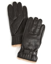Barbour Utility Leather Gloves - Brown