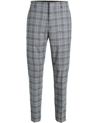 Club Monaco Plaid Sutton Trousers - Blue