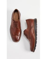 Cole Haan Original Grand Short Wingtip Oxfords - Brown