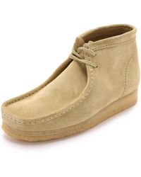 Clarks Wallabee Suede Chukka Boots - Yellow