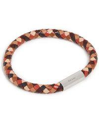 Paul Smith Leather Plait Bracelet - Brown