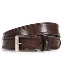 Ted Baker - Stitched Leather Belt - Lyst