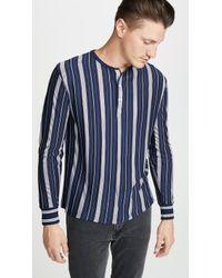 A.P.C. - Merioul Henley T-shirt - Lyst