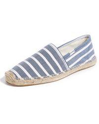 Soludos Original Classic Stripe Espadrilles - Blue