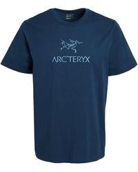Arc'teryx Arc'word Logo Tee - Blue