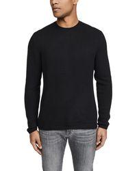 Vince Long Sleeve Plush Cashmere Jumper - Black