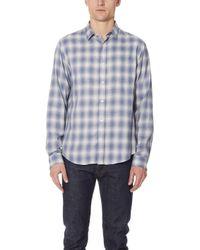 Vince - Shadow Plaid Shirt - Lyst