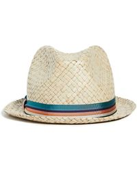 Paul Smith Bovens Straw Hat - Natural