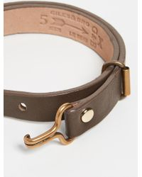 Giles & Brother - Leather Visor Cuff Bracelet - Lyst