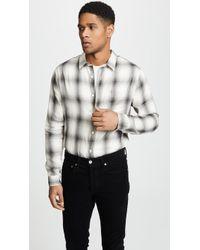 Vince - Double Face Plaid Long Sleeve (sail/slate) Men's Clothing - Lyst