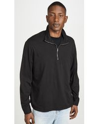 Our Legacy Washed Black Clean Jersey Zip Polo Shirt