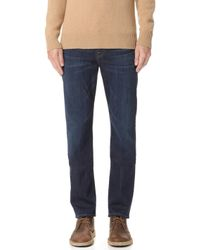 7 For All Mankind - Straight Luxe Perfect Fit Jeans - Lyst