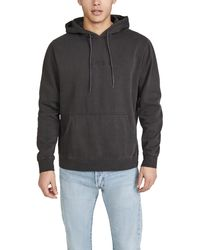 RVCA Long Sleeve Blocked Hoodie - Black