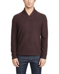 Vince Shawl Long Sleeve Popover Cashmere Jumper - Multicolour