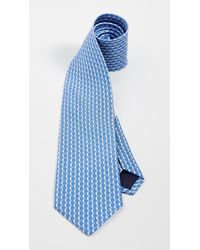 Ferragamo Iluna Printed Tie - Blue