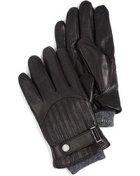 Polo Ralph Lauren Quilted Racing Gloves - Black