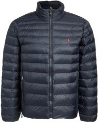 Polo Ralph Lauren Packable Recycled Nylon Down Jacket - Blue