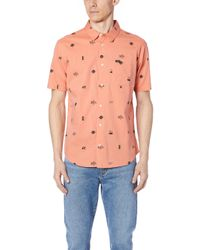 RVCA - Mowgli Short Sleeve Shirt - Lyst