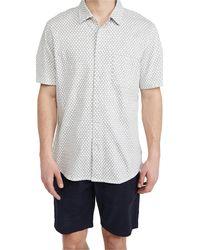 Faherty Brand Knit Coast Shirt - White