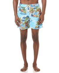 Polo Ralph Lauren - Hawaiian Landscape Traveller Swim Trunks - Lyst