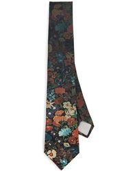 Paul Smith Floral Tie - Black